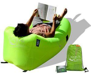 Inflatable Air Lounger Sofa Bed with Headrest