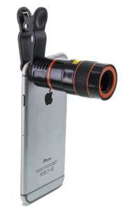 Aduro® U-SNAP 8X Zoom Magnifier Optical Lens For Universal Smartphones & Tablets (iPhone, Samsung, Android) (Black)
