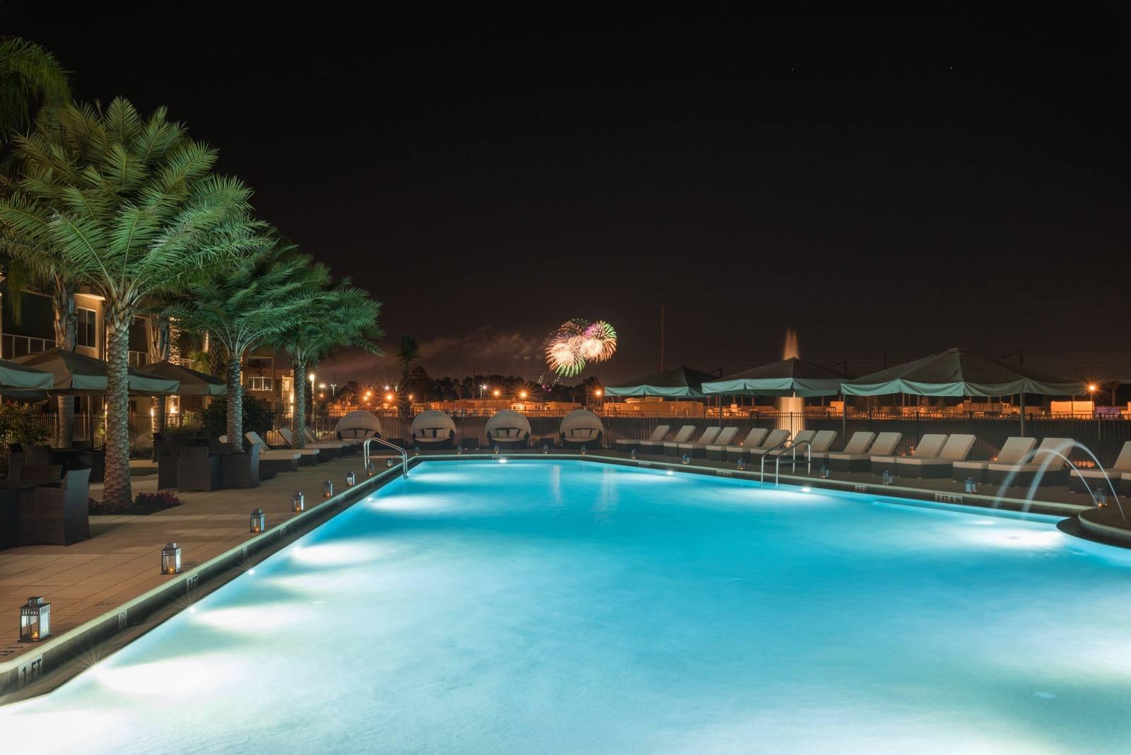 Magic-Village-Pool-Fireworks