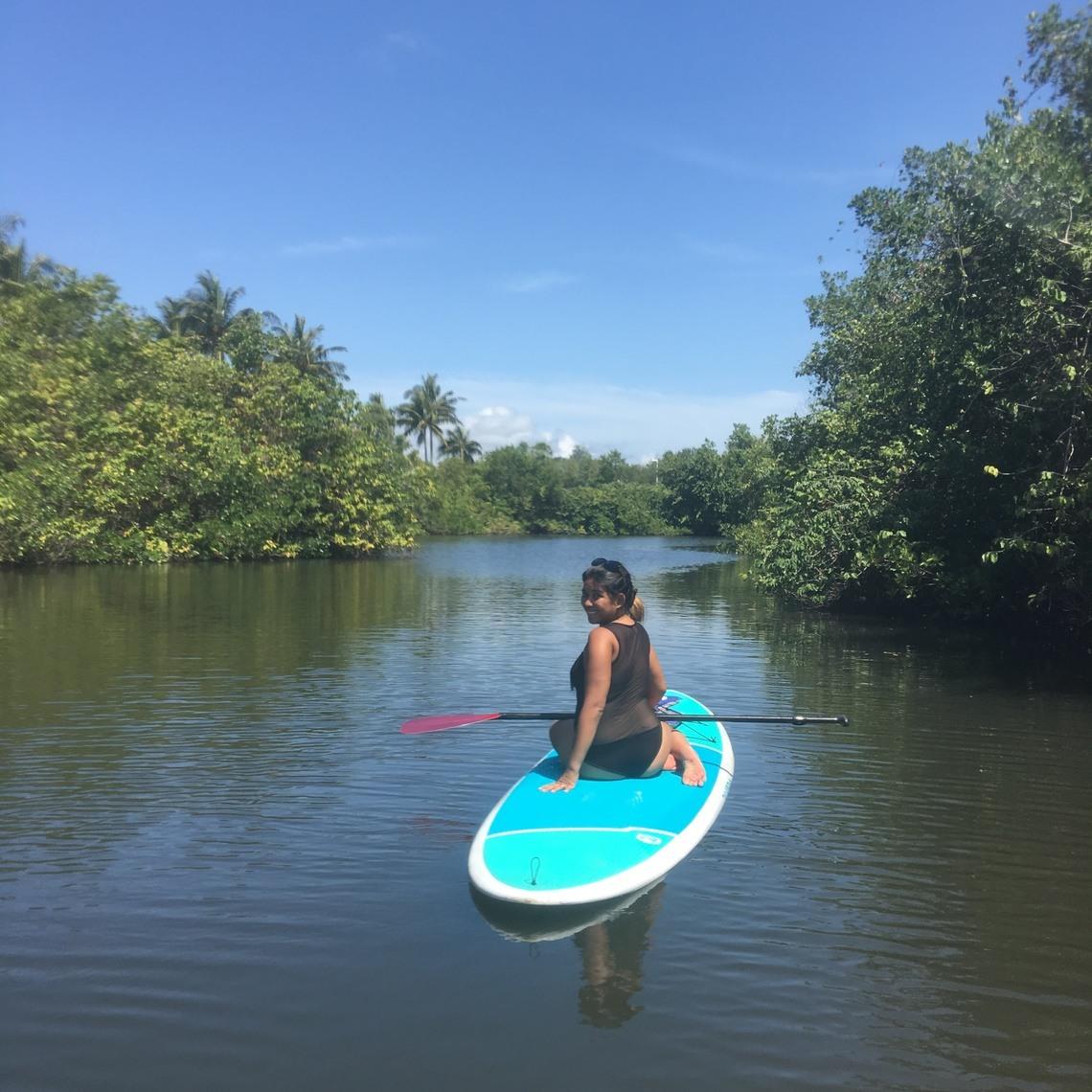 Paddle boarding in Jupiter's Intercoastal Waterway