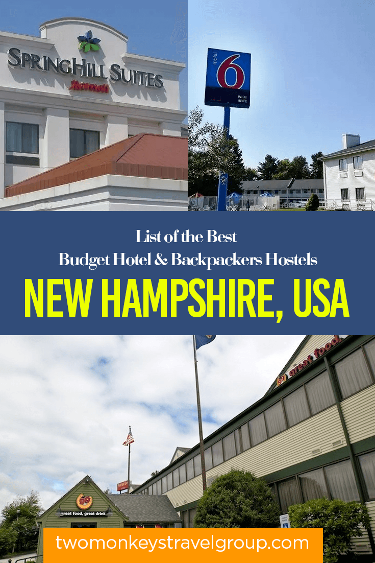 New Hampshire, USA - List of the Best Budget Hotels and Backpackers Hostels