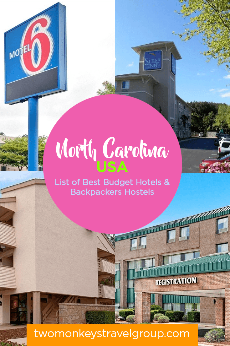 North Carolina, USA - List of Best Budget Hotels and Backpackers Hostels