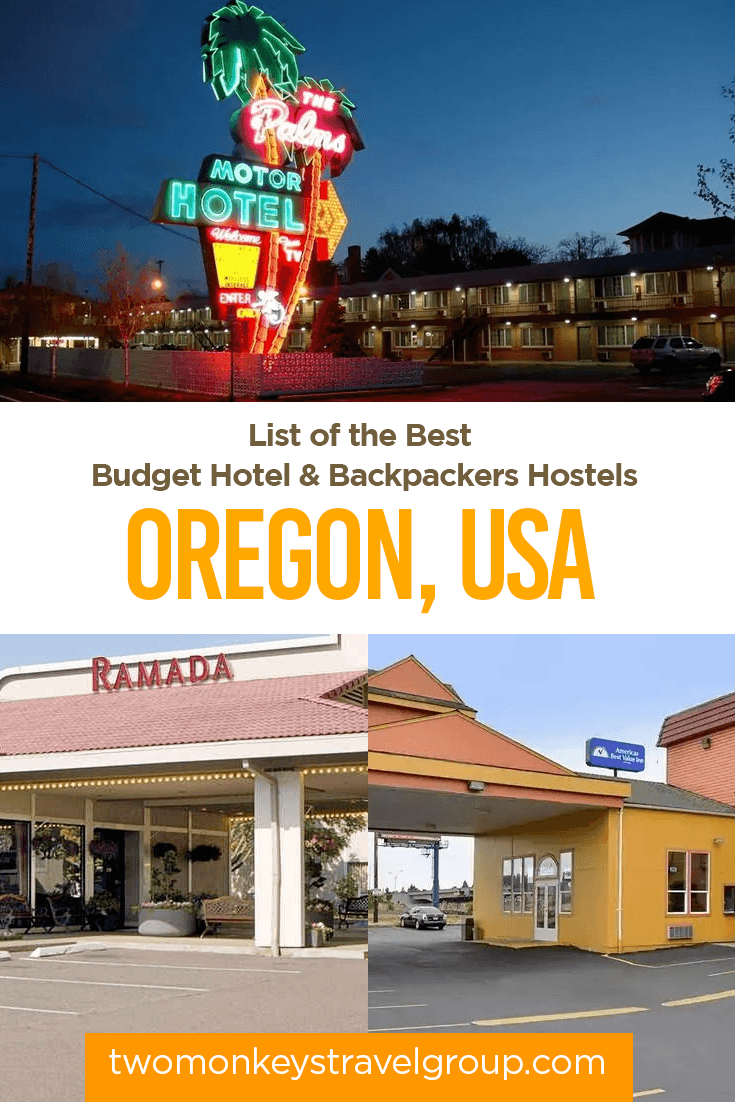 Oregon, USA - List of the Best Budget Hotels and Backpackers Hostels