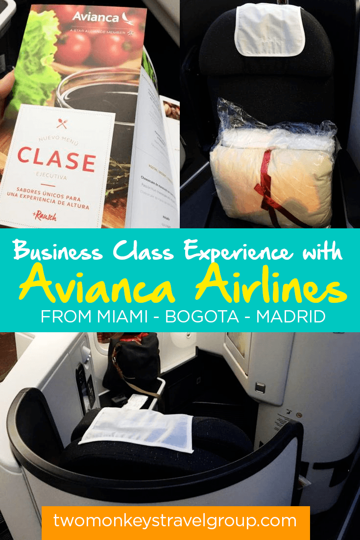 Luxurious In-Flight Business Class Experience with the Avianca Airlines via Miami-Bogota-Madrid Trip