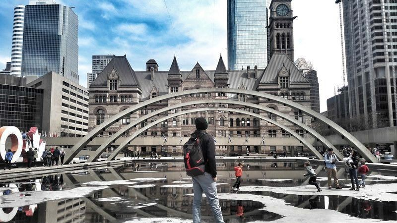 Nathan Phillips Square in Toronto Canada