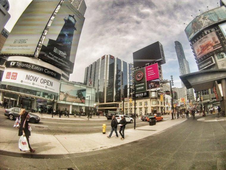 Dundas Square in Toronto Canada