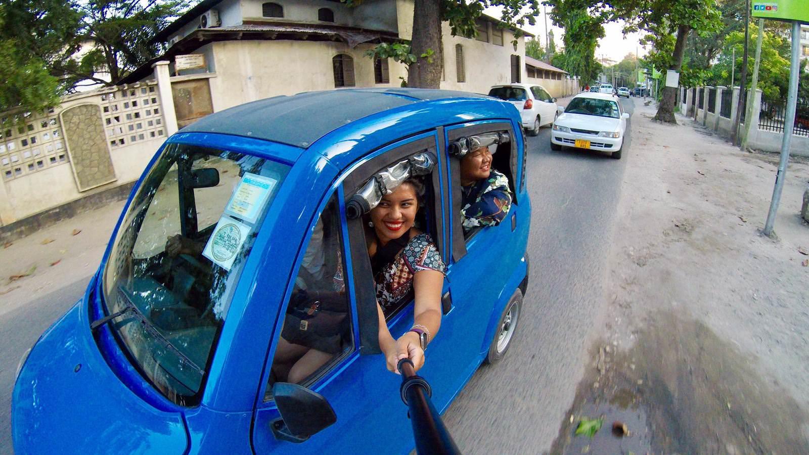 Uber ride in Dar es Salaam Tanzania