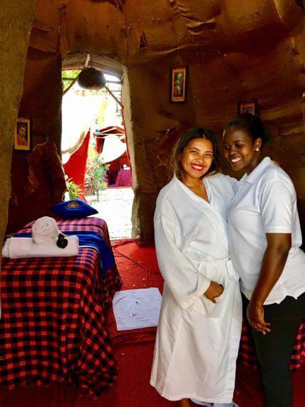 Maasai ritual with Tiki set up at Essque Zalu Zanzibar