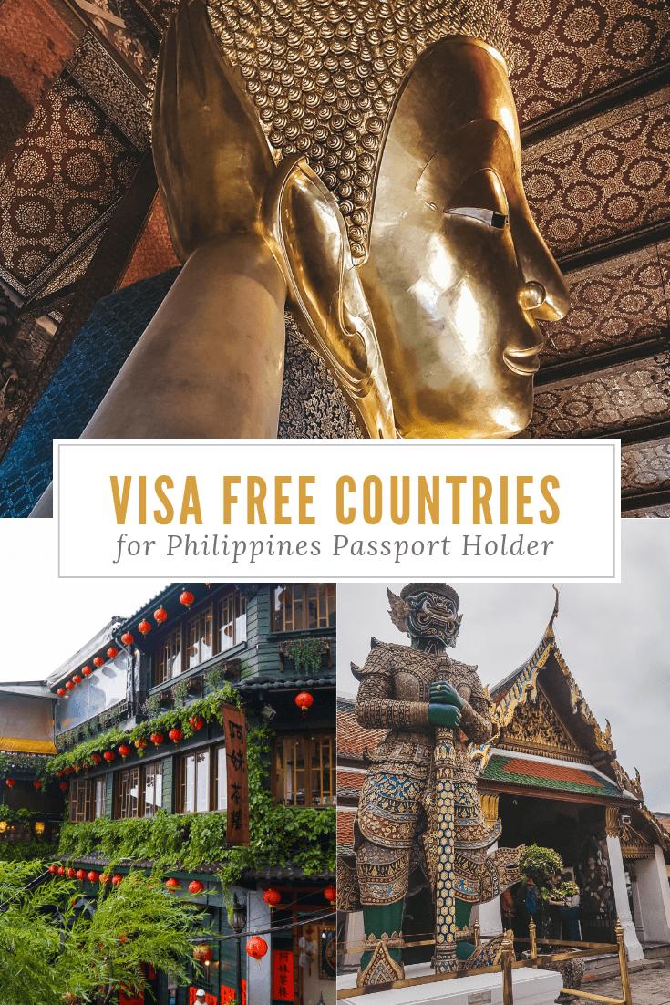 Pinterest visa free countries philippines passport filipino