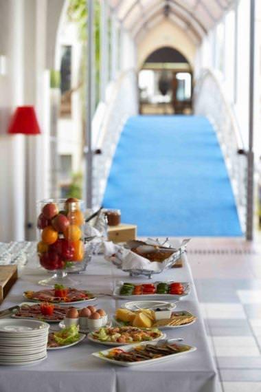 Food at Hotel Slipway Tanzania