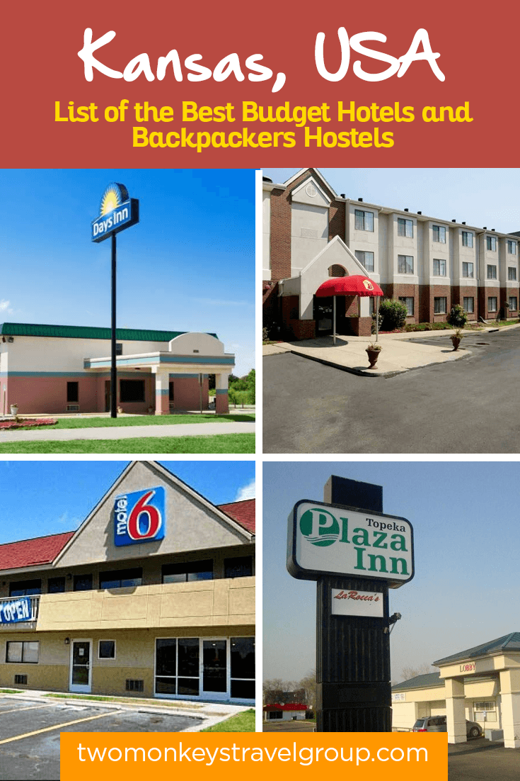 Complete List of Recommended Cheap Hotels in Kansas, USA