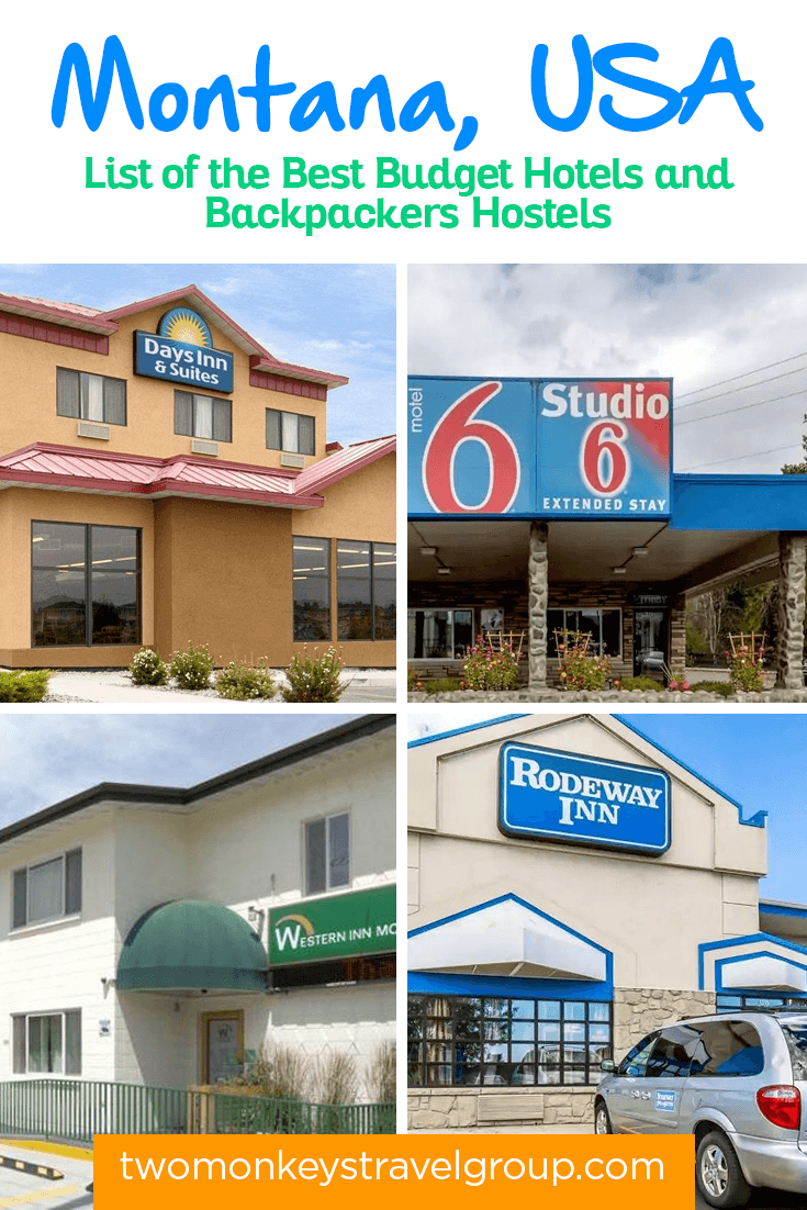 Complete List of Recommended Cheap Hotels in Montana, USA