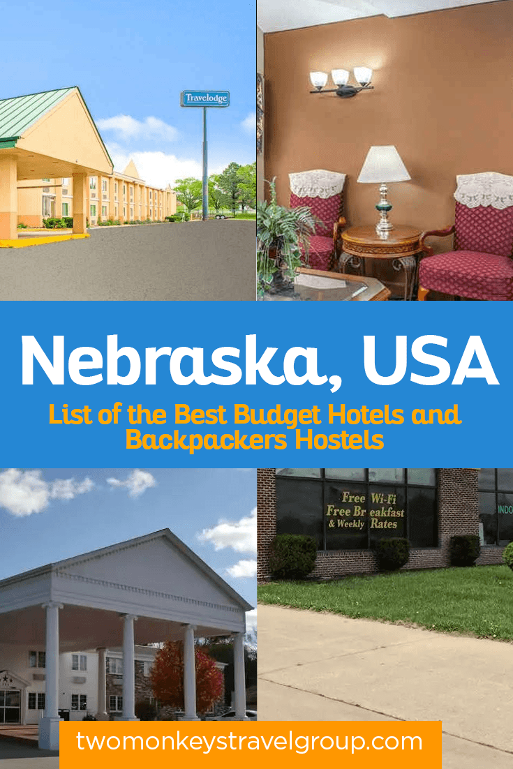Complete List of Recommended Cheap Hotels in Nebraska, USA