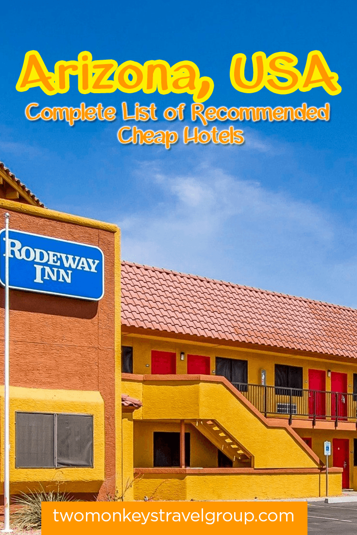 Complete List of Recommended Cheap Hotels in Arizona, USA