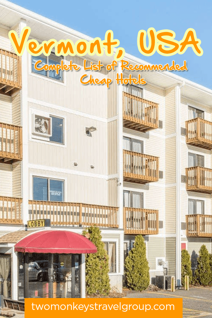 Complete List of Recommended Cheap Hotels in Vermont, USA