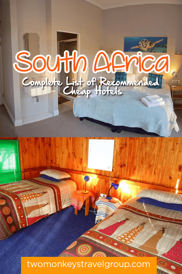 Complete List of Recommended Cheap Hotels in South Africa