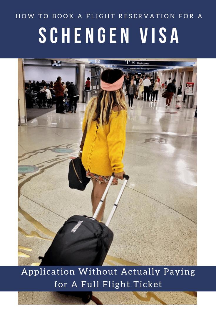 Pinterest book flight reservation schengen visa application