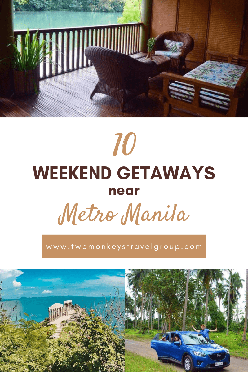 Pinterest 10 weekend getaways near metro manila