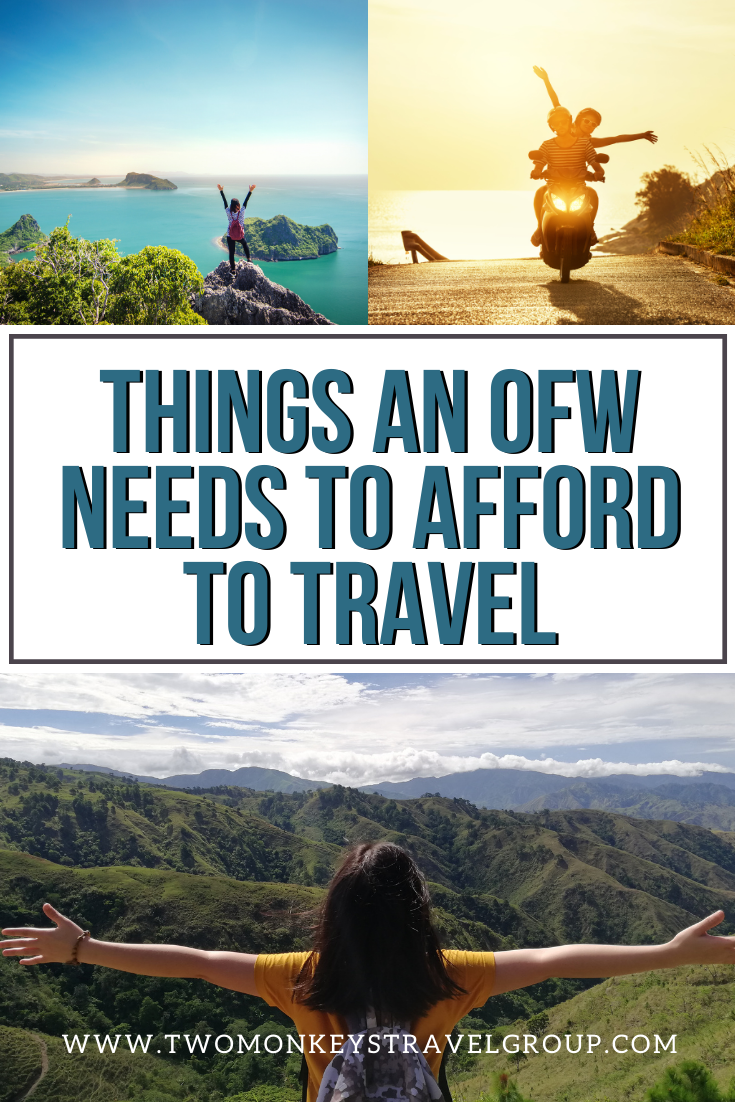 8 Things an OFW Needs to Afford to Travel