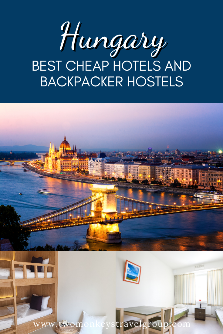 Complete List of Recommended Best Cheap Hotels and Backpacker Hostels in Hungary