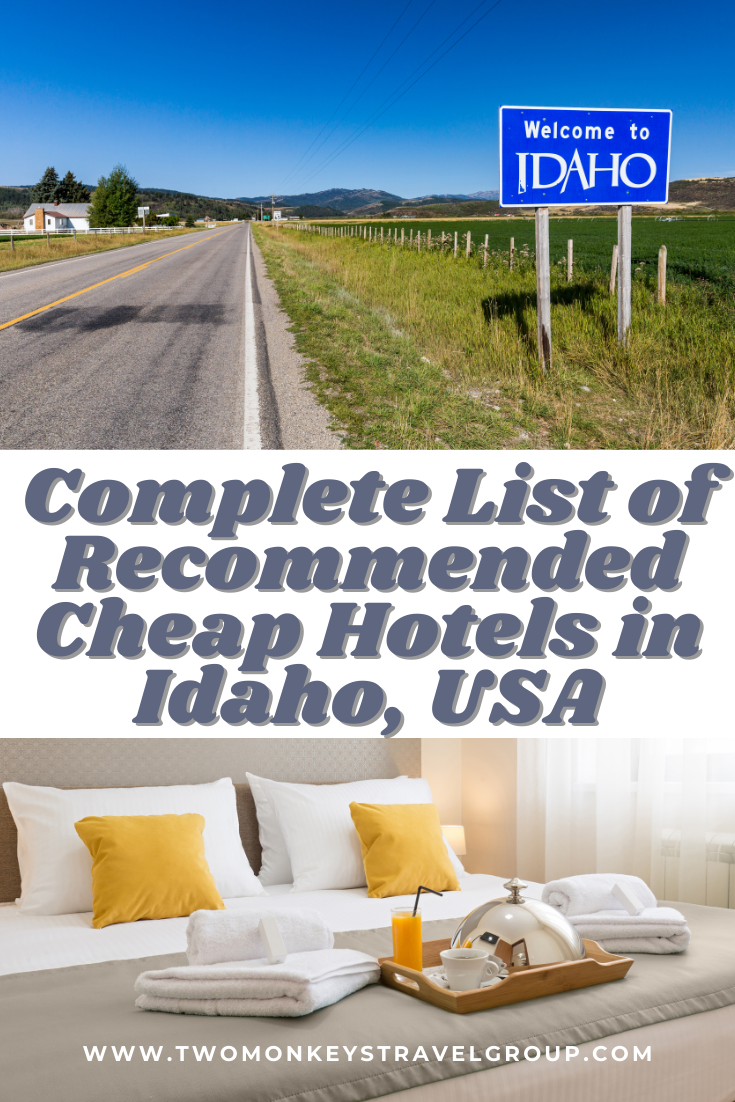 Complete List of Recommended Cheap Hotels in Idaho, USA