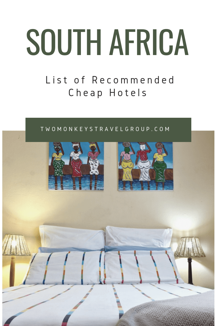 Complete List of Recommended Cheap Hotels in South Africa Updated for 2019a1