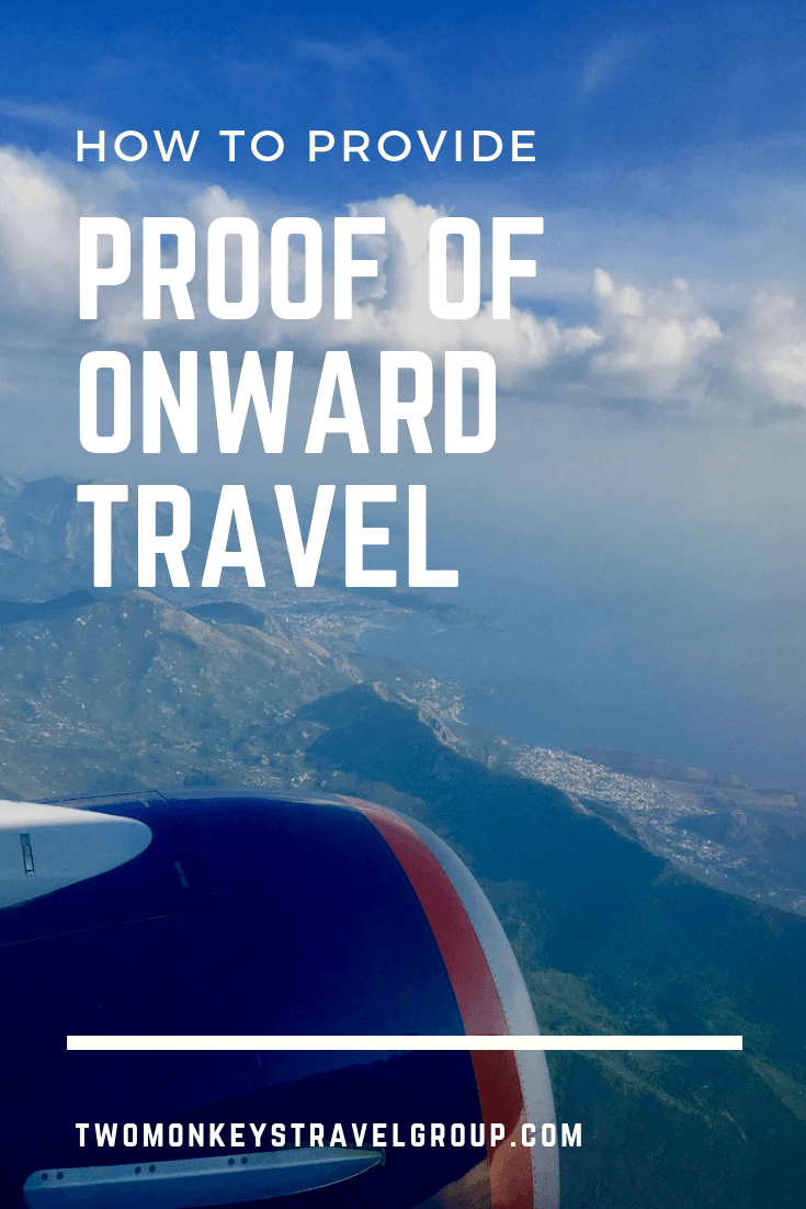 How To Provide Proof of Onward Travel2