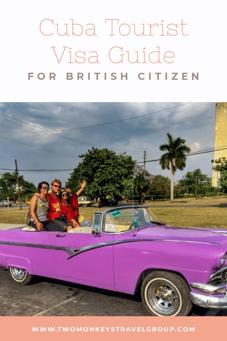Cuba Tourist Visa for UK Citizens