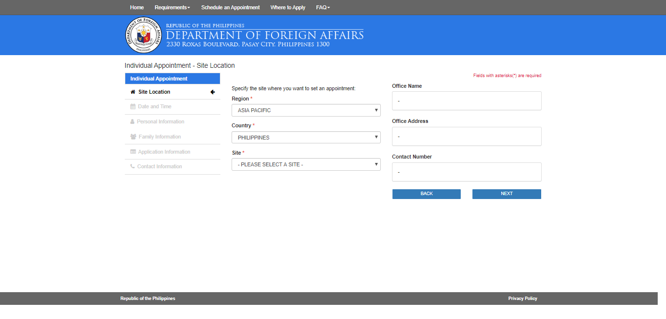DFA Online Appointment to Get a Passport3