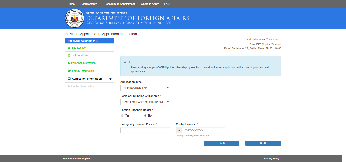 DFA Online Appointment to Get a Passport8