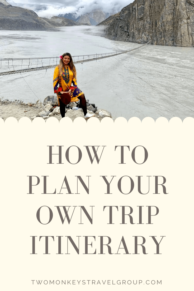 Plan Your Own Trip Itinerary