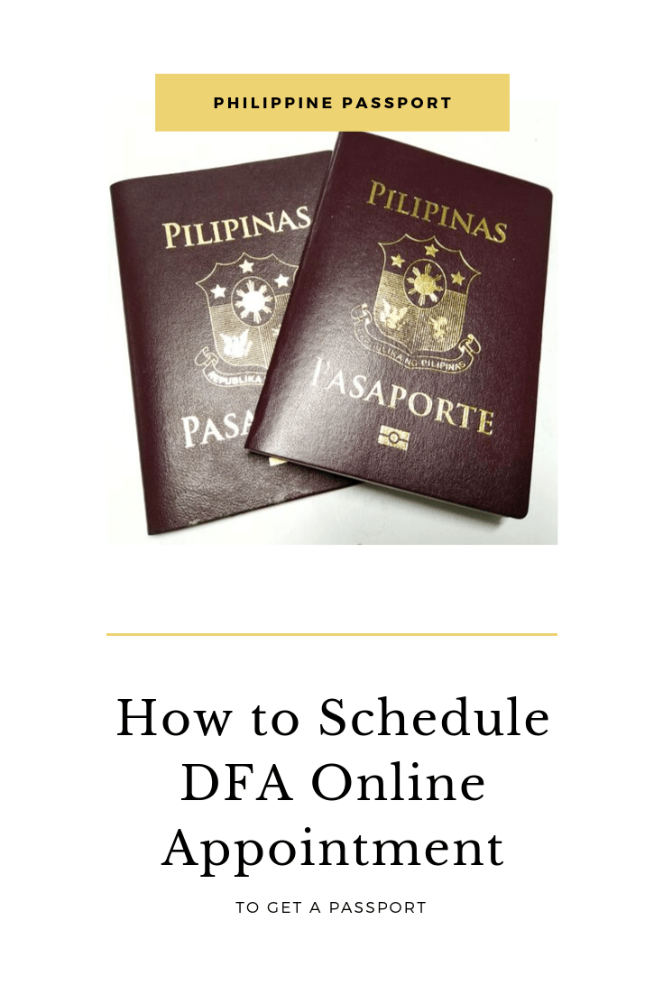 How to Schedule a Department of Foreign Affairs DFA Online Appointment to Get a Passport1