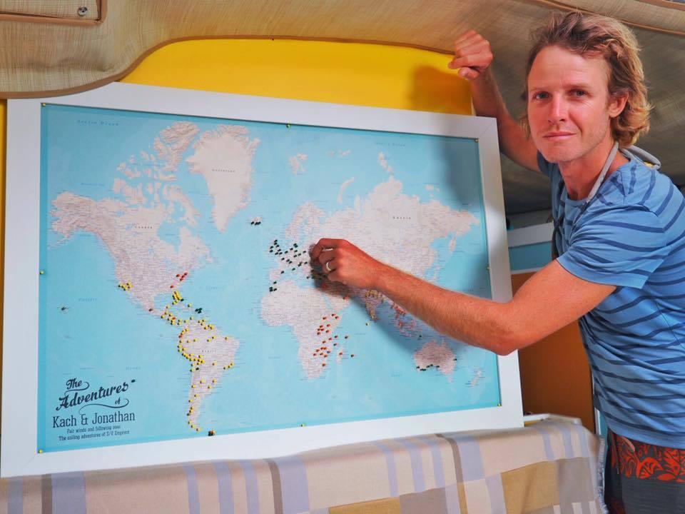 Sailing Travel Map