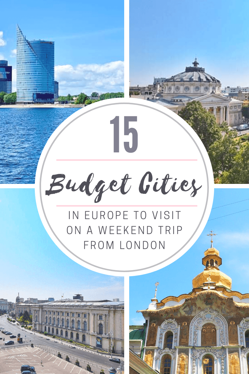 Budget Cities in Europe to Visit on a Weekend Trip from London