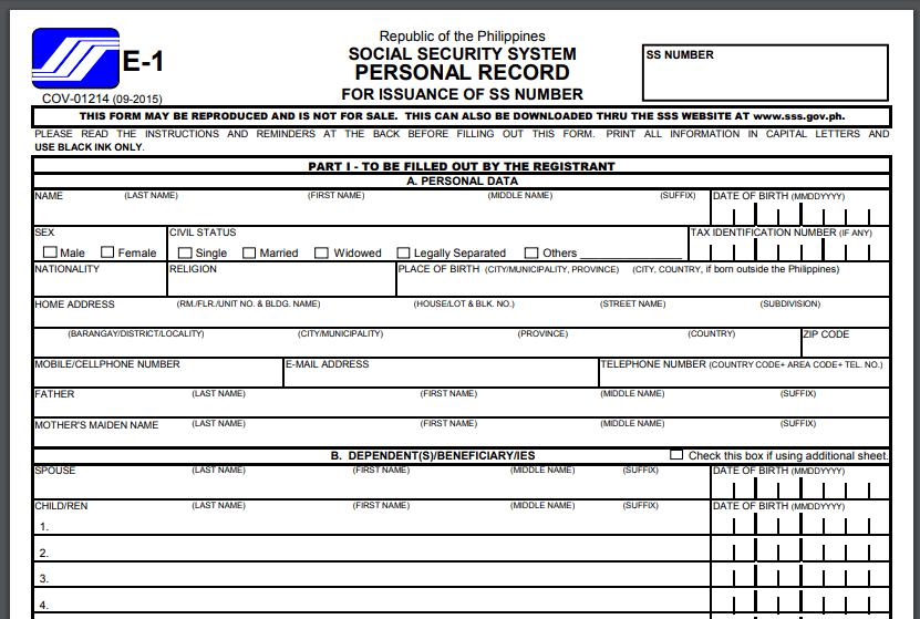 SSS Registration and Procedures