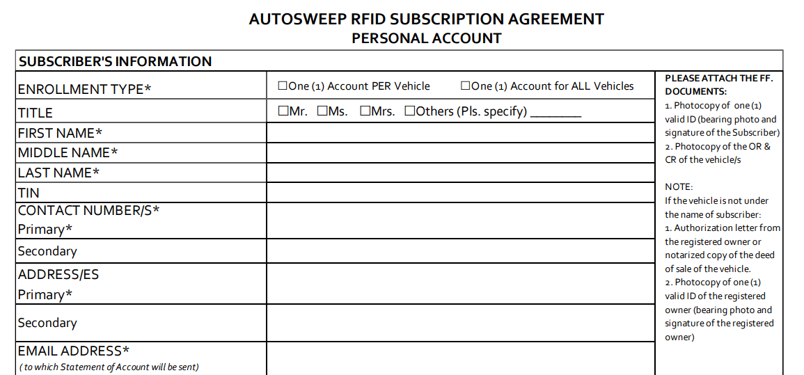 Autosweep RFID Your Cashless Payment in Philippine Expressways