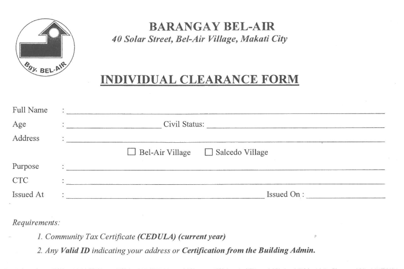 How To Get a Barangay Clearance in the Philippines