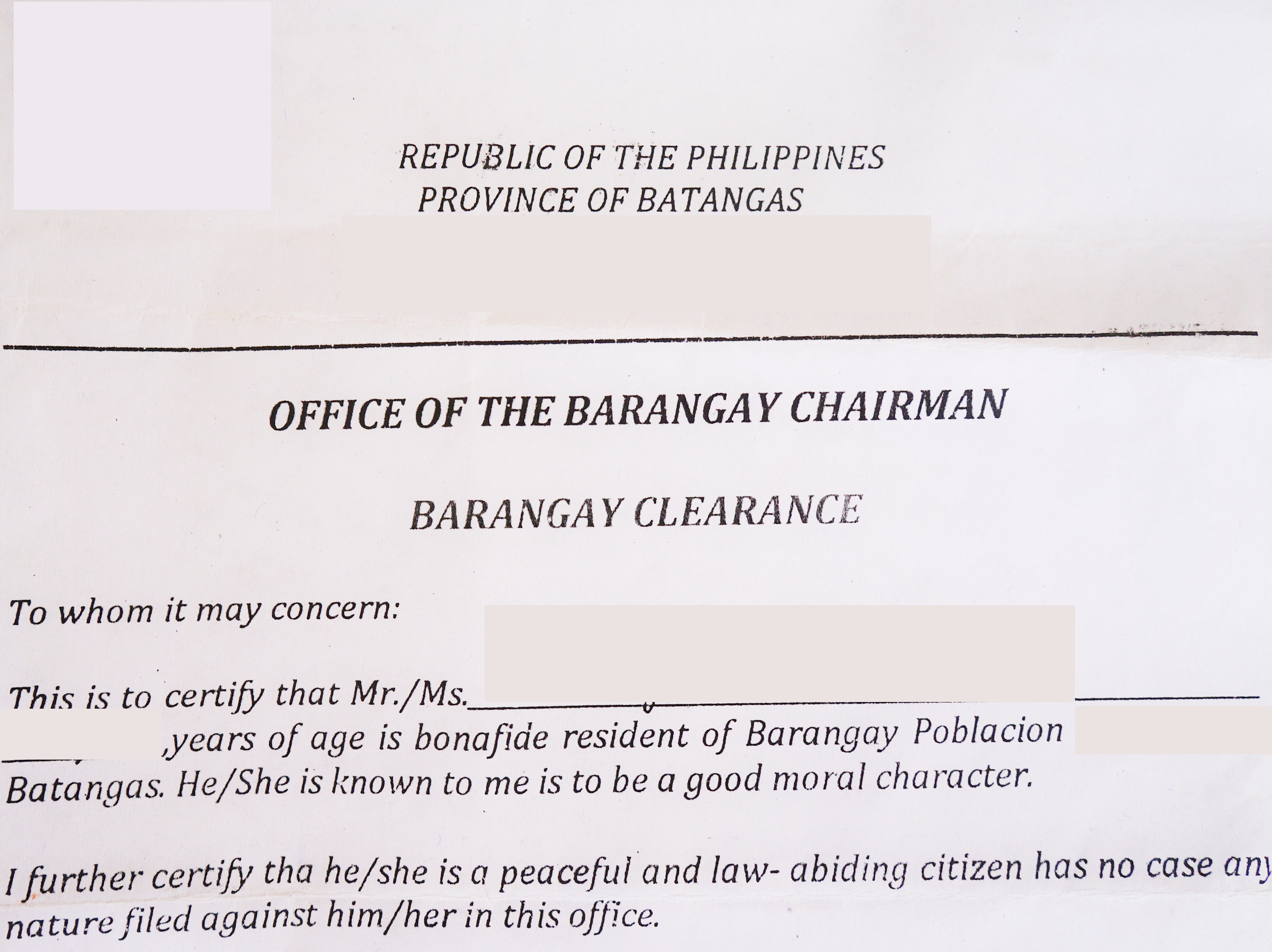 How To Get a Barangay Clearance in the Philippines3