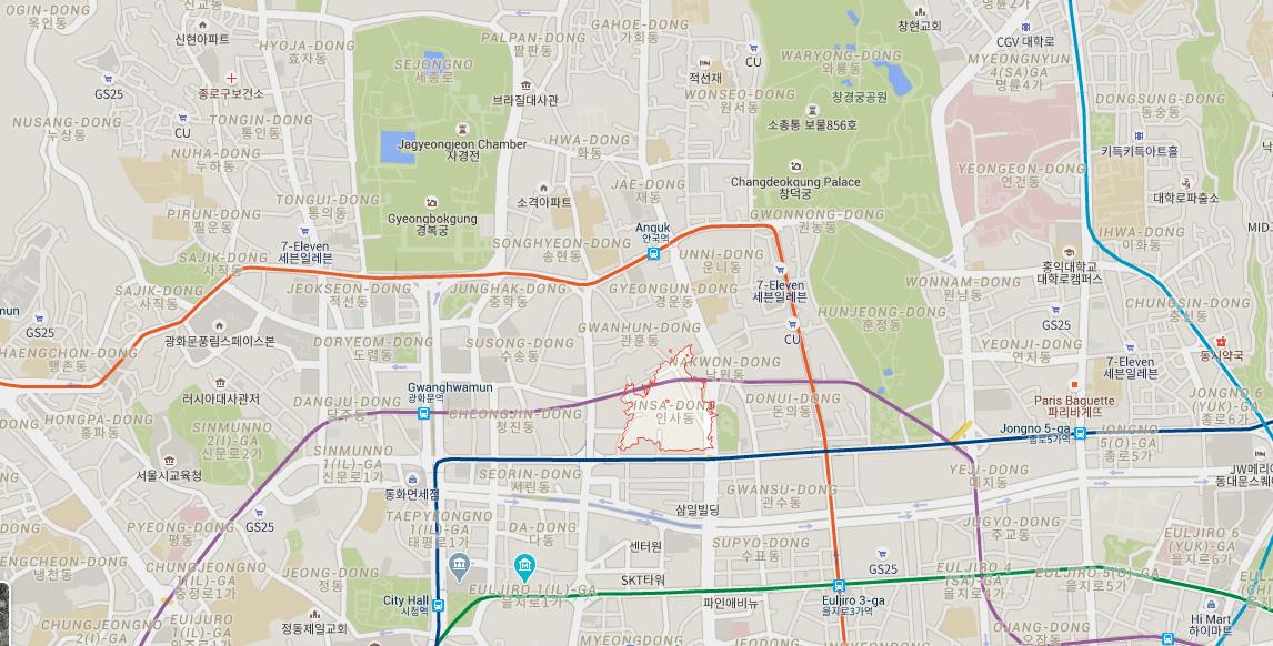 Insadong Map
