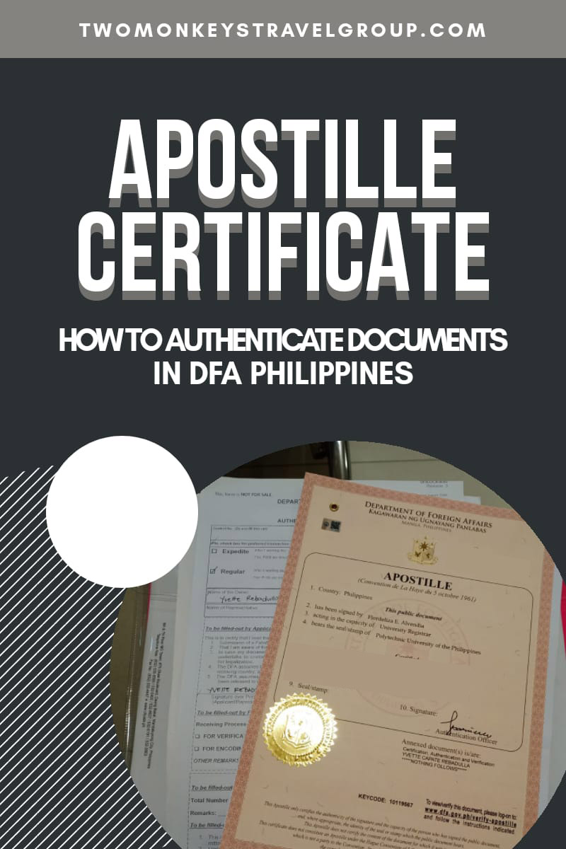 Apostille Certificate How To Authenticate Documents In DFA Philippines