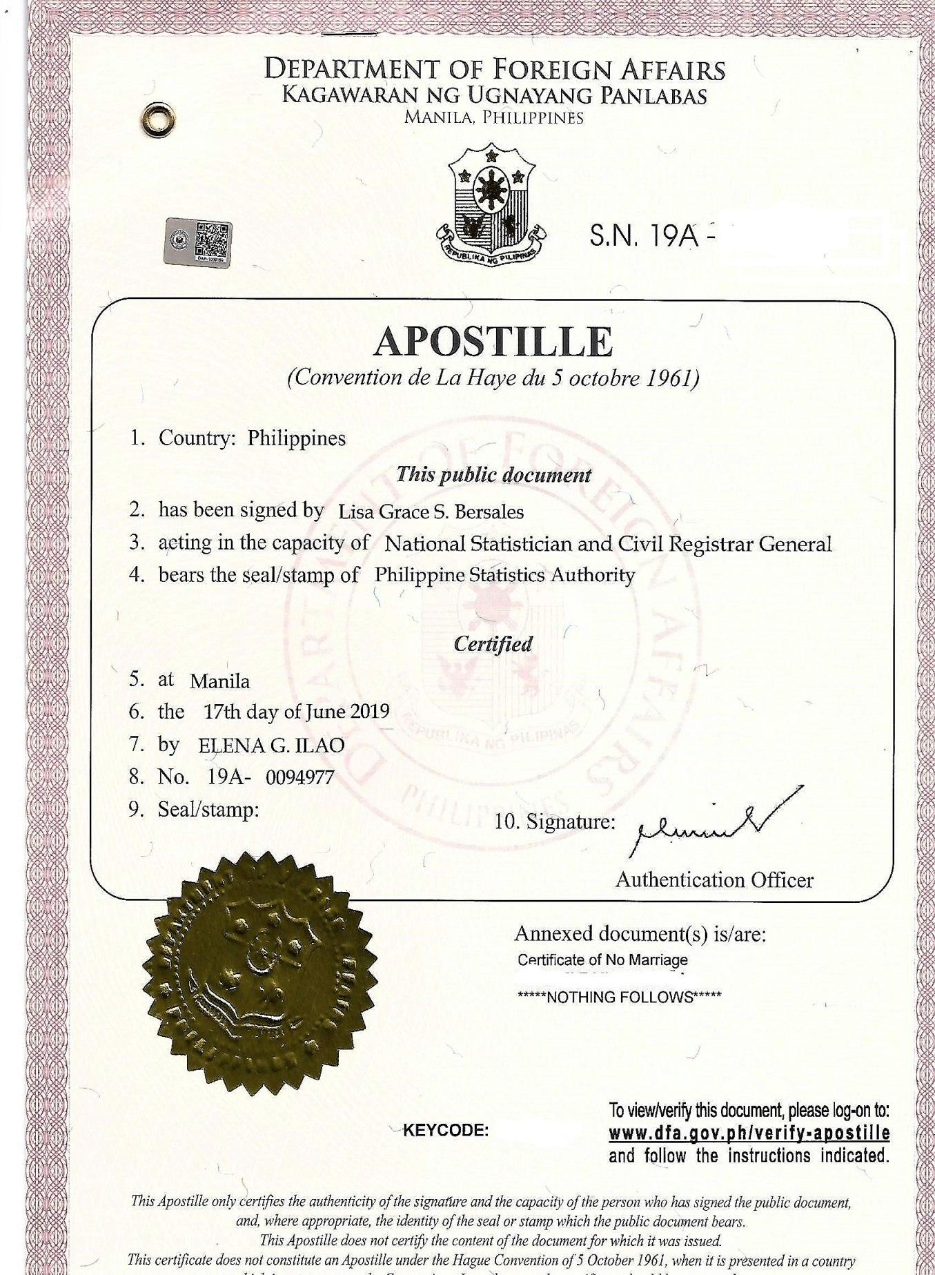 Apostille Philippine Document Authentication The New Red Ribbon