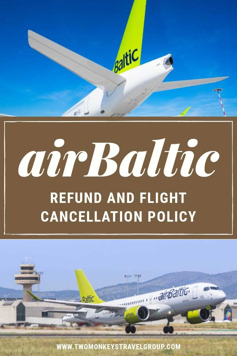 Can I cancel my airBaltic flight Refund and Flight Cancellation Policy