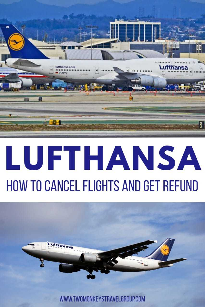 How to Cancel Flights and Get Refund with Lufthansa
