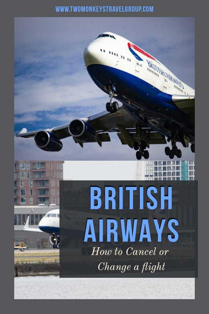 How to Change or Cancel a Flight on British Airways [Tips to Get Refund]