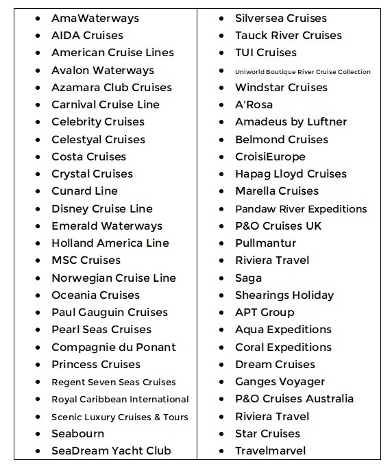 List of Cruise Lines that Offer Rebooking and Refund
