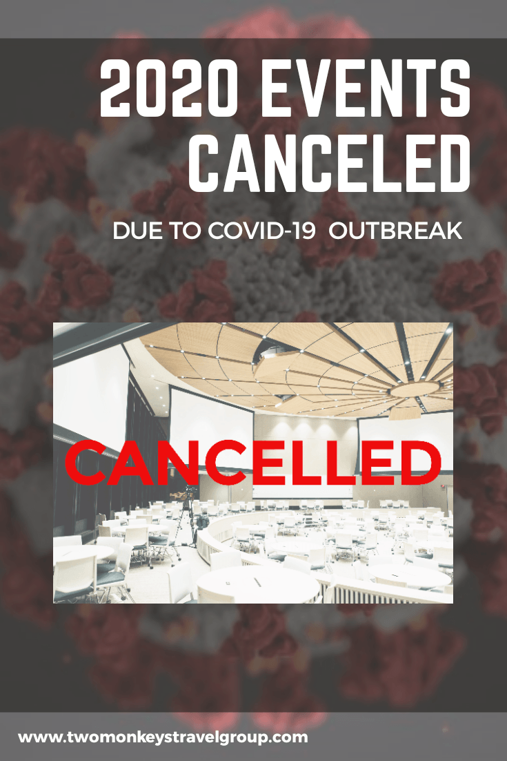 List of World Events Canceled for 2020 Due to the COVID-19 Outbreak