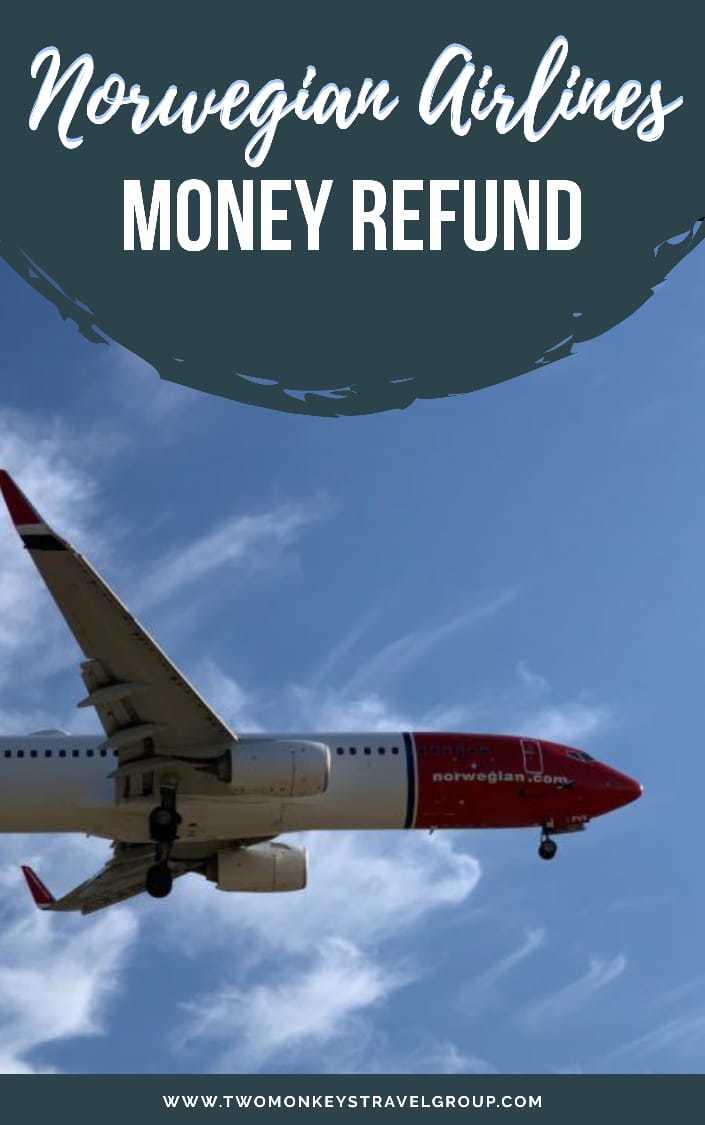 Norwegian Airlines Money Refund Flight Cancellation Policy1