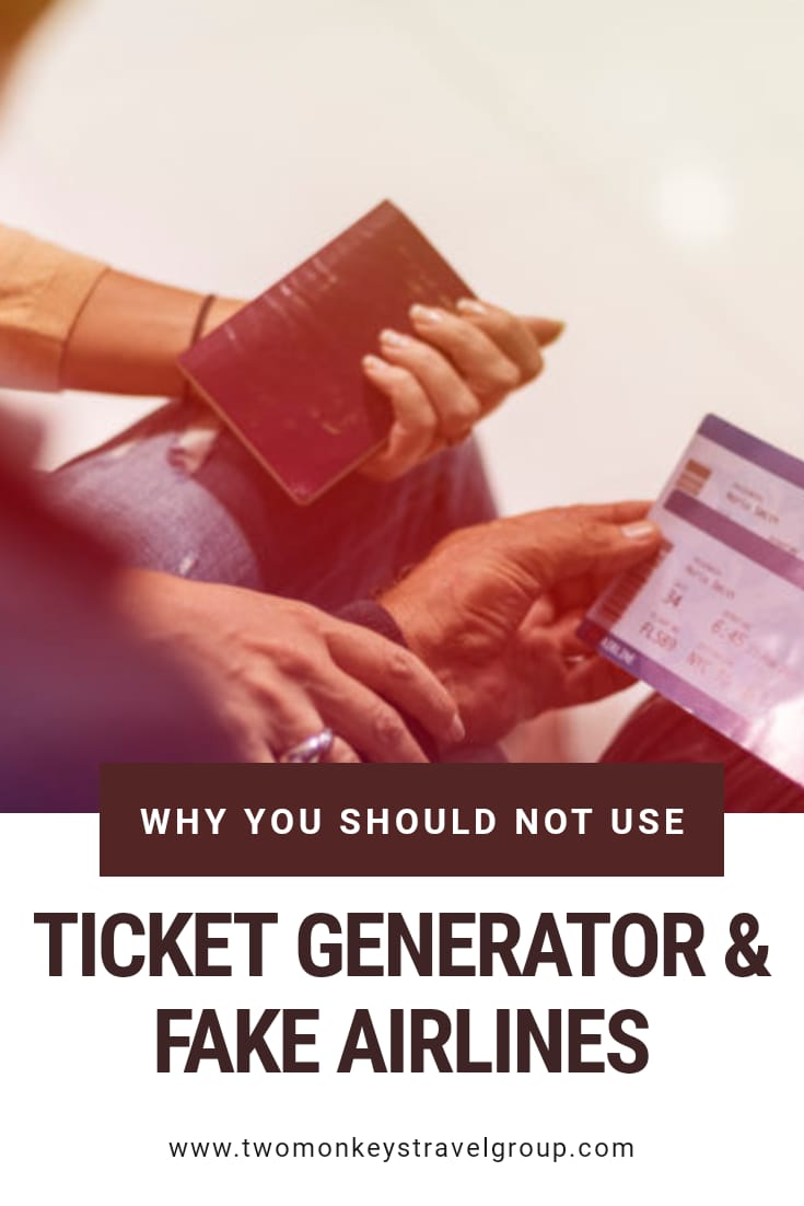 Fake Ticket Generator and Fake Airlines Ticket Why should you not use it