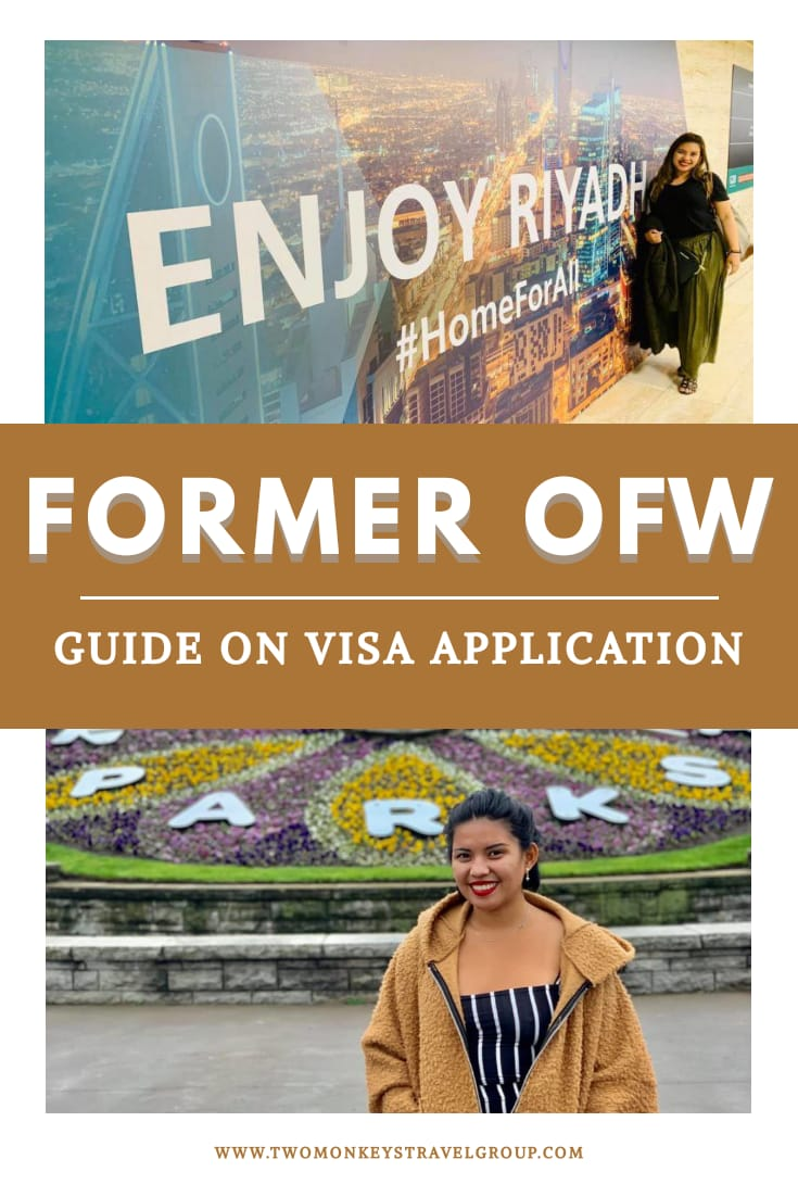 Former OFW Guide on Visa Application What Documents To Submit When You Return Home to the Philippines