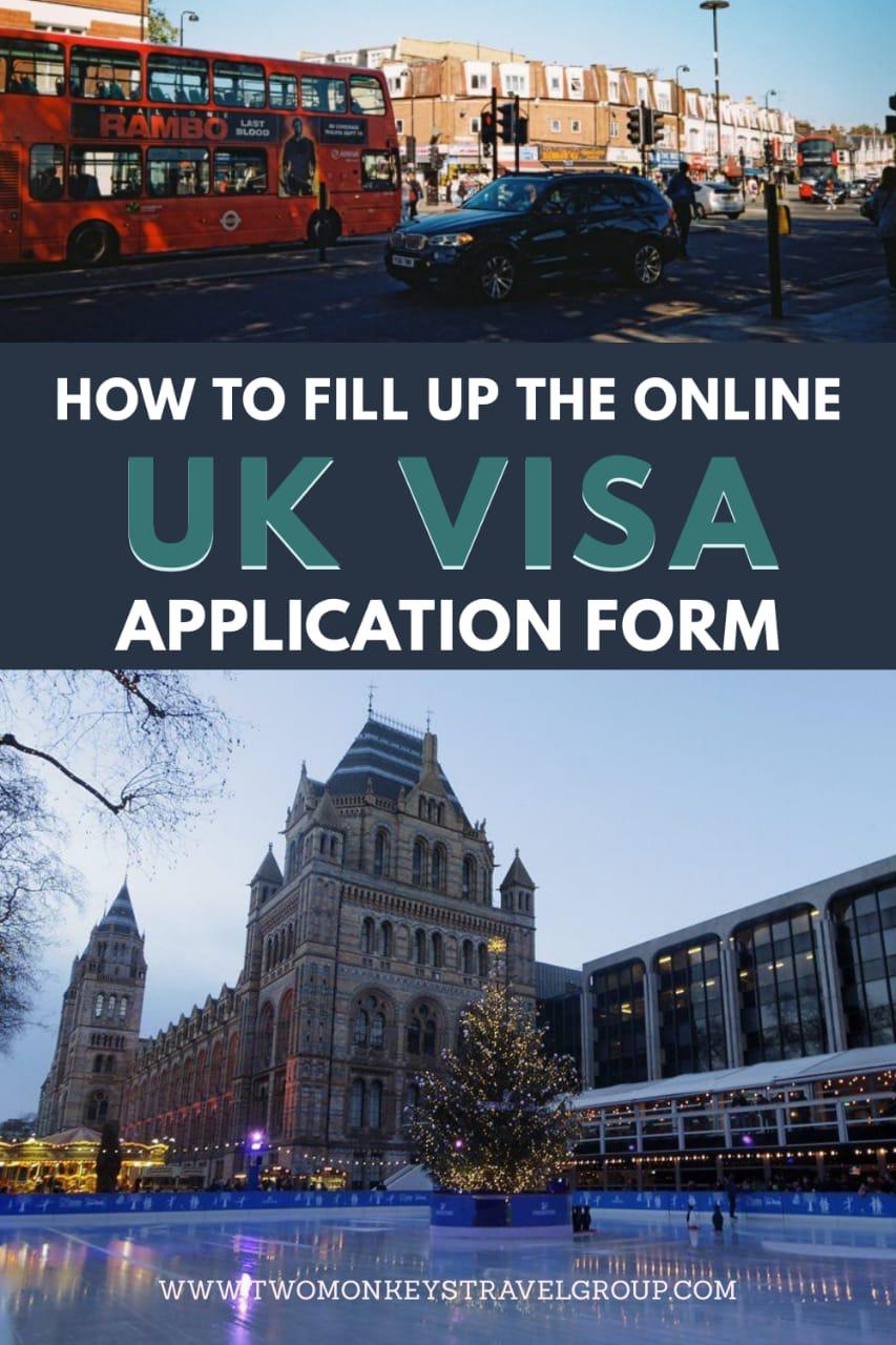 How to Fill Up the Online UK Visa Application Form UK Visit Visa Application